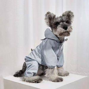 Perro Impermeable Ropa Malla Impermeable Impermeable Mono de lluvia Para Perro Pequeño Pequeño Al Aire Libre Absorbente Reflectante PET PET COBRA DE ROPA
