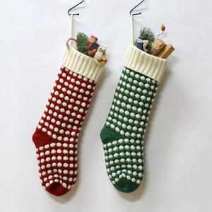 New Personalized High Quality Knit Christmas Stocking Gift Bags Knit Christmas Decorations Xmas stocking Large Decorative Socks GWA2319