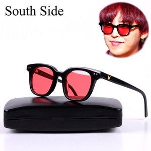 G-DRAGON Korea Gentle Der SüDSEITE Womens Marken-Designer-rote Linse Retro-Sonnenbrille mit Original Case