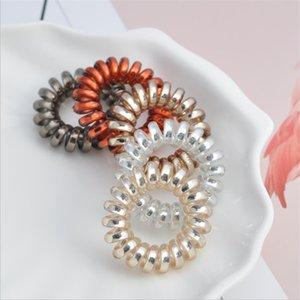 4 cm elastische telefondraht haar bands mädchen gummi band headwear zubehör haar seil spiralform haarkrawatten 37 j2