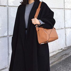 Mulena Adjustable Waist Warm Wool Long Trench Coat Women Winter Hardy Luxury Casual Outover Coats Fashion fz2079