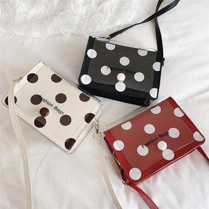 2020 New Fashion Ladies Wave Point Transparent Bag One Shoulder Cross-body Bags Joker Package Messenger Bags