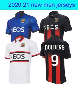 20 21 maillot de foot OGC Nice Soccer Jersey home away 3rd ATAL Dolberg Pierre Lees-Melou Gouiri Ignatius Ganago Wylan Rony Lopes Football S