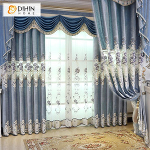 European Royal Luxury Curtains for Bedroom Embroidered Blackout Curtain For Living Room