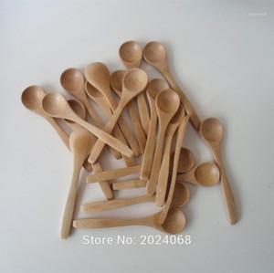 Recién 10 unids / set 5.1 pulgadas de madera Cuchara de madera Ecofriendly Vajilla Bambú Scoop Coffee Honey Spoon Stirrer FIF661