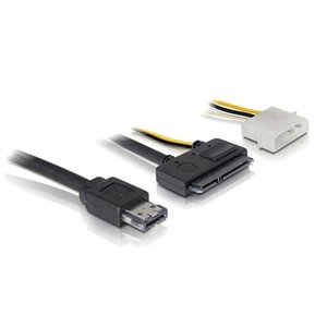 """50cm eSATAp Güç ESATA Combo SATA 22pin IDE 4pin 5V 12V 3.5"""" için 2.5"""" Sabit Disk Veri Kablosu"""