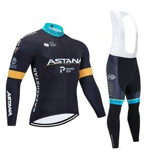 Astana Inverno Ciclismo Jersey 2020 Pantaloni Pro Team Uomini / Donne CICLA Abbigliamento Mtb bici Jersey Bib Kit Ropa Ciclismo Inverno