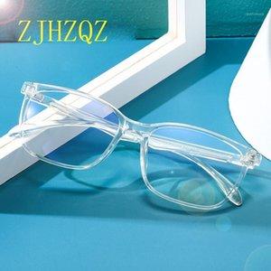 ZJHZQZ Fashion Hommes Retro Blue Light Block Blocking lunettes de lunettes Femme Spectacles optiques Clear Lentille Lecture d'ordinateurs Nouveau1
