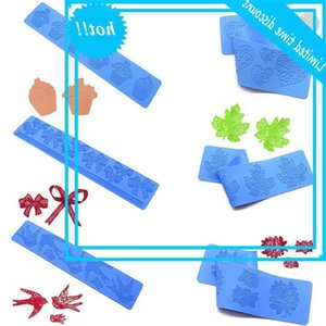 Sanxin sugar lace pad silicone mold love bow decoration baking abrasive DIY cake rim