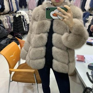 Genuine Jacket Overcoat Real Natural Leather Coat Women's Winter Thick Fur Outerwear Custom Any Colors