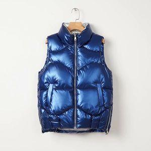 Женские дизайнеры Одежда 2021 Женский жилет Женская куртка и пальто мода зимнее зимнее платье, женский блестящий хлопок классический жилет куртка