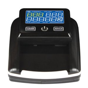 LCD screen mini banknote detector Support US Dollar Euro Banknotes Foreign Currency Counter Intelligent forgery Casino