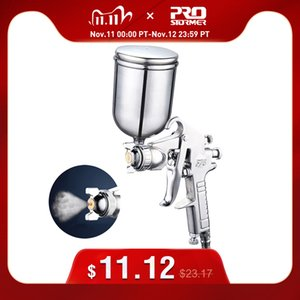 400ML Spray Gun Professional Pneumatic Airbrush Sprayer Alloy Atomizer Tool With Hopper For Painting Cars by PROSTORMER Q1107