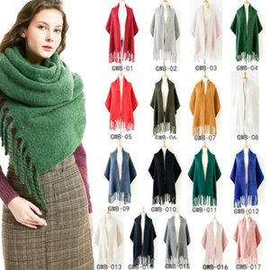 European and American hot sale autumn and winter new thick tassel solid color scarf ladies thick shawl factory wholesale k322