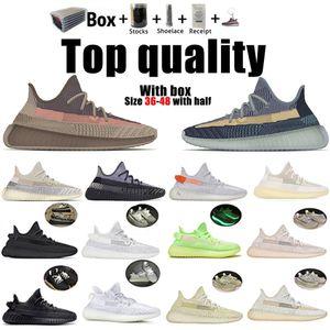 Kanye West réfléchissant Fade naturel Yecher Ash Pierre Bleu perle noire statique 3M Chaussures de course Hommes Femmes Zebra ZYON Baskets Sneakers 36-48
