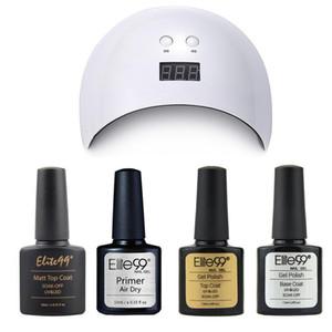 Elite99 5 Stücke / Los Nail Art Set 24w Nageltrockner zum Härten von UV Gel Polish Matt Top Coat Base Mantel Schnellluft Dry Primer Gel