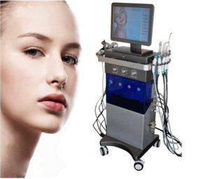9 in 1 multi-function hydra facial oxygen facial skin care tools PDT photon light therapy skin rejuvenation machine free logo