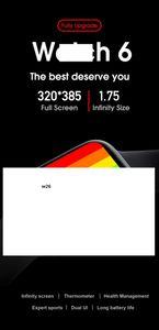 Смарт часы 2020 Newst IWO W26 44мм 1,75 дюйма Полный сенсорный осыпи IWO W26 Смарт Часы для мужчин Женщины IP68 SmartWatch для всех Совместимость