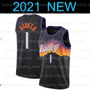 FénixSóisDevin 1 Booker Jersey Chris 3 Paul Collin 2 Sexton Ricky Rubio Deandre Ayton Cidade Negra The Valley 2021 homens de basquete
