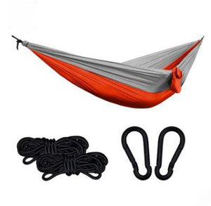 Factory direct outdoor camping hammock landing mountain cloth, single camping hammock color variety
