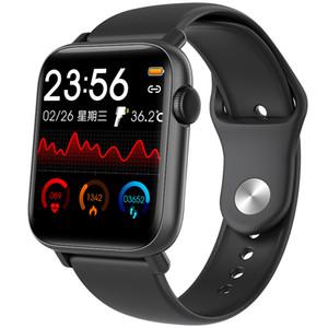 Monitoreo de la temperatura corporal Reloj inteligente con la consulta de la pista de movimiento de GPS 1.54 pulgadas Pantalla táctil completa 24h Monitoreo de frecuencia cardíaca en tiempo real