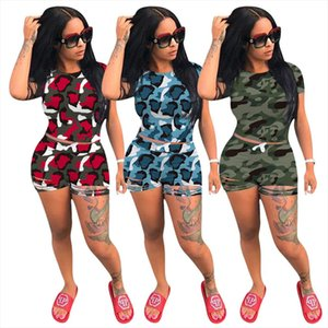 Plus Size Lounge Wear Biker Shorts Set Summer Clothes for Women Tracksuit Two Piece Set Camouflage Dresy DamskieMatching Sets