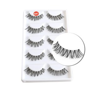 5 Pairs Black Messy Cross False Eyelashes Natural Long Eyelash Big eyes Makeup Fake Eye Lashes Extension Tools
