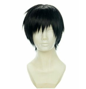 Short Straight Black Synthetic Hair Wig