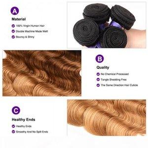 hair series 4 bundles t1b-4-27 ombre body virgin human hair short human hair for black women