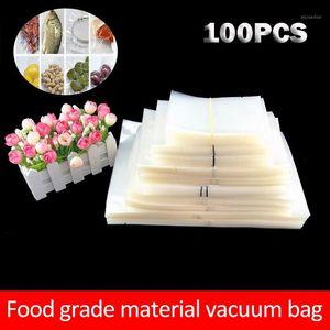100 pcs saco de armazenamento de frutas Embalagem Novos sacos de plástico Saran Wrap Kitchen Fresh Mantendo a poupança de calor Saco Vácuo1