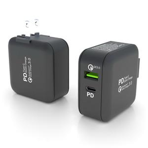 63W GaN caricabatterie da muro Tipo C PD porta QC3.0 ricarica USB fatto per tutti gli smartphone / PDA / Camera / GPS / AC100-240V notebook