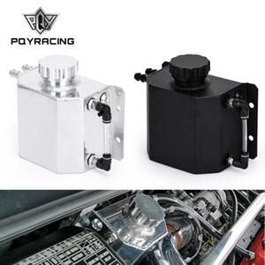 PQY - Universal 1L Aluminum Oil Catch Can Reservoir Tank With Drain Plug Breather Oil Tank Fuel Tank PQY-TK57