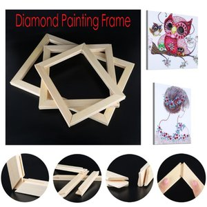 1 Set 5D Diamond Painting Frame Photo Picture Frame DIY Cross Stitch Bordado Camilla de madera Tamaño grande Imagen interior