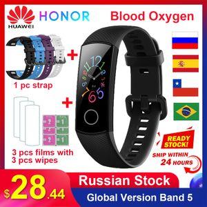 Original Huawei Honor Band 5 5i Global Version 0.95 AMOLED Screen Blood Oxygen Smartband Waterproof Fitness Smart Watch Bracelet