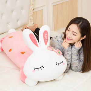 Bunny Plush Toys Sleeping Pillow for Girl Doll Ragdoll Sleep Hug Doll Bed Birthday Gift for Women