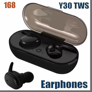 Y30 TWS 4 bluetooth 5.0 earphones Mini Wireless Earbuds Touch Control Sport in Ear Stereo Cordless Headset for cellphones headphones 168D