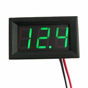 3 colore 2 fili digitale tester di tensione universale Mini DC 4.0 / 4.5 / 4.7 Pannello ~ 30V LED display LED Digital Voltage Meter voltmetro Bj1V #