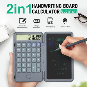 6.5 inch Rechargeable Calculator with LCD Writing Board Handwriting Notepad Useful Tool for Work Gift For Kids