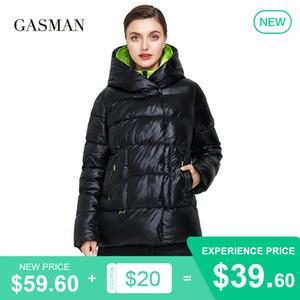 marchio Gasman moda nera verso il basso spessore parka rivestimento caldo di inverno del cappotto delle donne delle donne outwear giacca femminile incappucciato puffer 072 201019