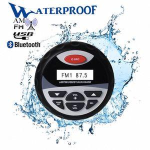 Empresa de agua a prueba de agua Radio Brozo de Brozo Barco de Motocicleta Audio Audio Reproductor MP3 Player FM AM Receptor Auto Sound System para UTV ATV 7K8P #
