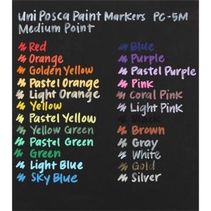 1 Set Uni Mitsubishi Posca PC-1M 3M 5M 8K 17K Paint Marker Writing Pen 7 8 12 15 Colors Set 201203