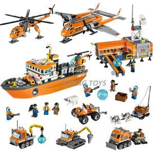 Toutes les séries City City Arctic Briks Building Blocks Modèle Jouets pour enfants Cadeau Enfants Gift Snowmobile Crawler LJ200928