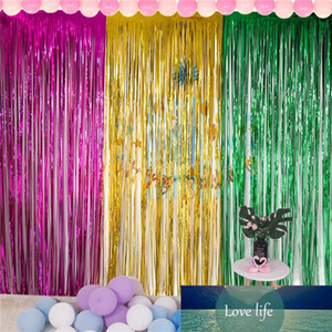 2x1M Rose Gold Rainbow Sequins Background Foil Striped Wire Curtains Birthday Party Decoration Wedding Anniversary Supplies 77