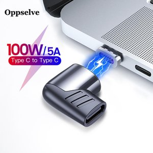 Oppselve 100W USB Type C Magnetic Adapter Type-C Male To USB C Female Magnet Connector For Mackbook Pro Huawei P40 P30 Pro Lite
