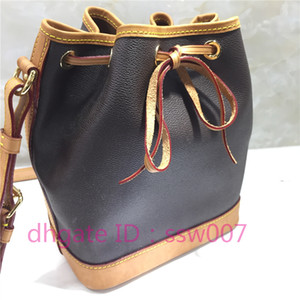 Home classic style women's Bucket Shoulder Bags escale neonoe Crossbody Bag Genuine Leather Handbags Adjustable Strap New Fashion Bags purse