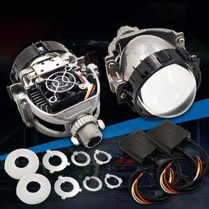 Bi Led Projektör Mercek H7 H4 H1 9005 9006 H13 9004 9007 LED Farlar İçin Otomobil Angel Eyes Halo Yüzükler Running Işıklar Retrofitler DIY