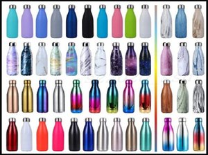 The latest 17OZ stainless steel 80 colors cola bottle thermos sports pot favorite for adults and children, free shipping, support custom log
