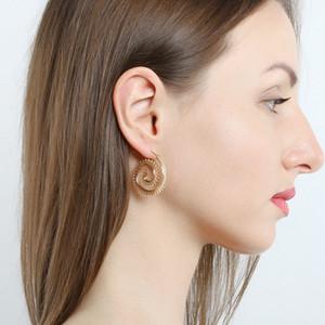 Earrings for Women Beach Jewelry Personality Bohemia Ethnic Exaggerated Drop Earrings Love Heart Whirlpool Gear Earrings
