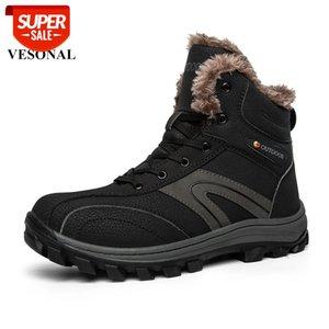 кроссовки мужчин обувь с мехом держать теплые кожаные лесоматериалы земля рабочие сапоги мужские на ноге наружный водонепроницаемый мужской ходьбу обувь # 8807