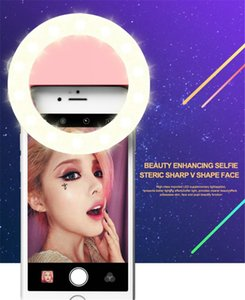 RK14 Rechargeable Selfie Ring Light with LED Camera Photography Flash Light Up Selfie Luminous Ring with USB Cable Universal for All Phones